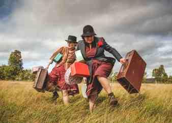 Melanie (right) as Tannie. Photo: Jody Cliffe